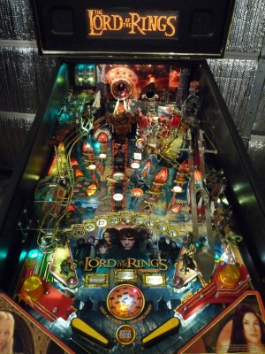 Lord of the Rings pinball with LED lighting