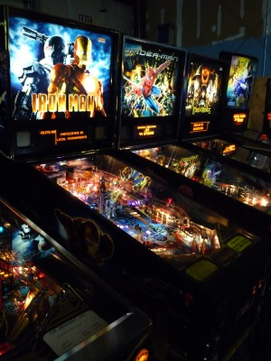 Iron Man pinball at Phoenix Nest Arcade